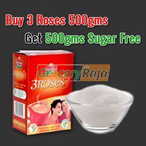 Buy 3 Roses Tea 500 gms & Get 500 gms Sugar FREE