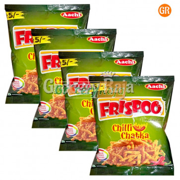 Aachi Frispoo Crunchy Corn Sticks - Chilly Chutka Rs. 5 (Pack of 4)