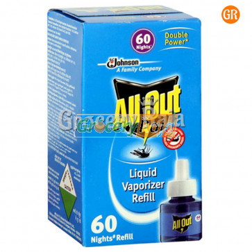 All Out Liquid Vaporizer Refill - 60 Nights 1 nos Carton