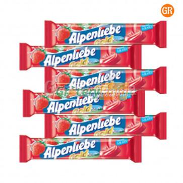 Alpenliebe Cream Strawberry Flavor Lollipop Rs. 5 (Pack of 6)