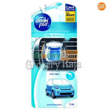Ambi Pur Sky Breeze Vent Clip Car Air Freshener 2 ml