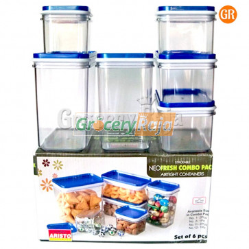 Aristo NeoFresh Airtight Container Combo Pack (Set of 6) [25 CARDS]