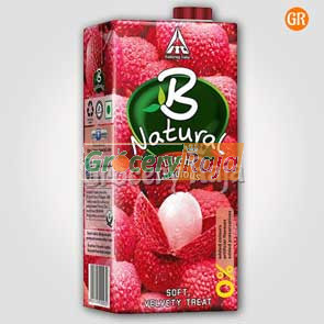 B Natural Litchi Juice 1 Ltr