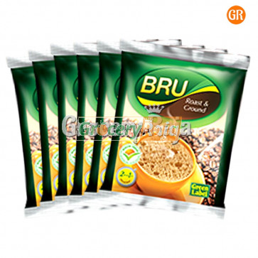 Bru Coffee - Green Label Rs. 5 Sachet (Pack of 6)