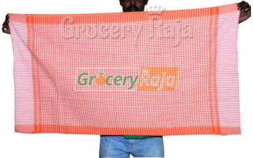 "Soft Nool Towel with Small Square Design 54""X25"""