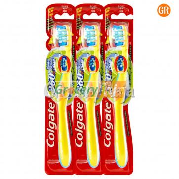Colgate 360 Acti Flex Soft Toothbrush 3 pc