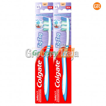 Colgate Zigzag Toothbrush - Medium 2 pc