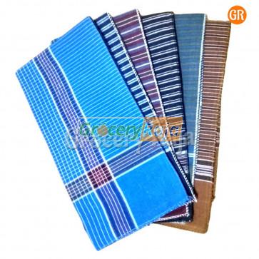 """Colored Men's Handkerchief 17""""X17"""" (Pack of 6)"""
