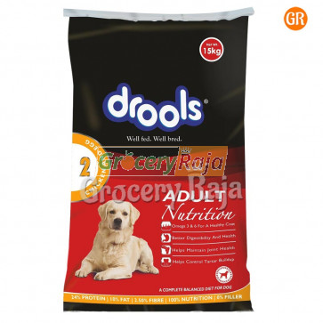Drools Dog Food with Chicken & Vegetables - Adult 15 Kg