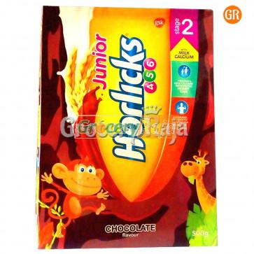 Horlicks Junior Chocolate 456 Stage 2 Refill Pack 500 gms