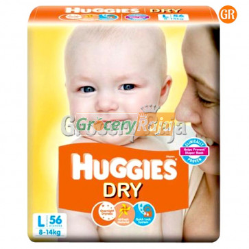 Huggies Dry Diapers 56 Diapers