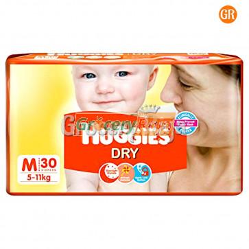 Huggies Dry Medium Diapers 5-11 Kg 30 Diapers