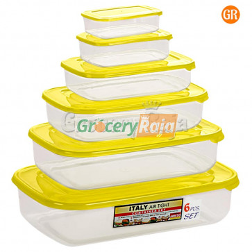 Aristo Italy Air Tight Containers 6 pcs Set [37 CARDS]