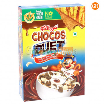 Kelloggs Chocos Duet Chocolaty + Vanilla Flavour 375 gms