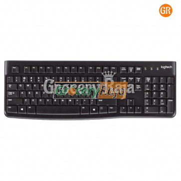Logitech K120 USB  Keyboard - Black [34 CARDS]