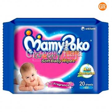 Mamy Poko Baby Wipes Purified Water 20 Wipes