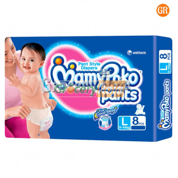 Mamy Poko Pant Style Diapers Large 9-14 kg 7 Diapers