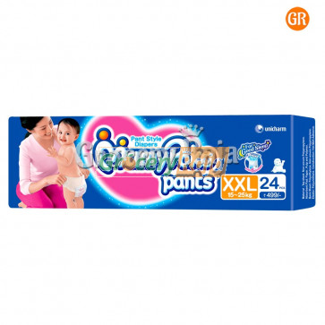 Mamy Poko XXL 15-25 kg Pant Style Diapers 24 Diapers