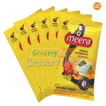 Meera Herbal Hairwash Powder Rs. 4 Sachet (Pack of 6)