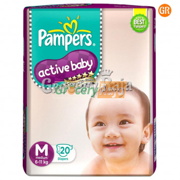 Pampers Disposable Diapers - Medium (6-11 Kg) 20 pcs