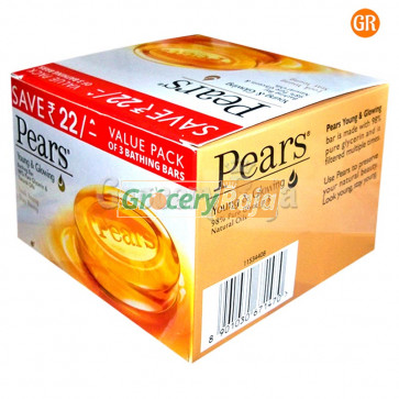 Pears Pure and Gentle Soap 125 gms (Pack of 3) + Rs.22 OFF