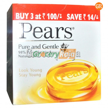 Pears Pure and Gentle Soap 75 gms (Pack of  3)  + Rs. 9 Off
