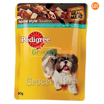 Pedigree Dog Food with Chicken & Liver Chunks - Adult 80 gms