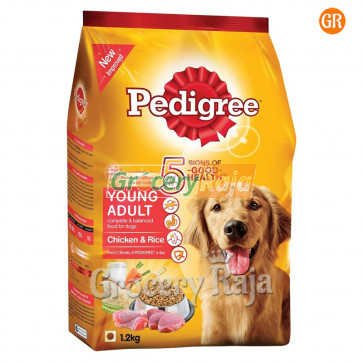 Pedigree Dog Food with Chicken & Rice - Adult 1.2 Kg