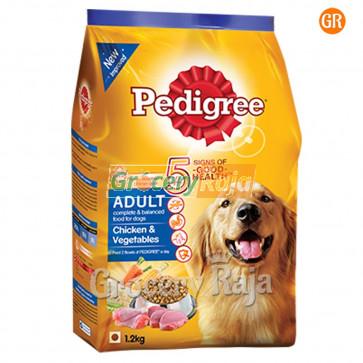 Pedigree Dog Food with Chicken & Vegetables - Adult 1.2 Kg
