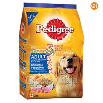 Pedigree Dog Food with Chicken & Vegetables - Adult 3 Kg
