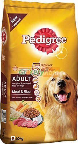 Pedigree Dog Food with Meat and Rice - Adult 10 Kg