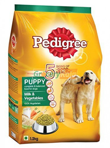 Pedigree Dog Food with Milk & Vegetables - Puppies 1.2 Kg