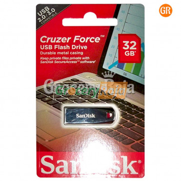 Sandisk Cruzer Force SDCZ71-032G-I35 32GB Flash Drive [58 CARDS]