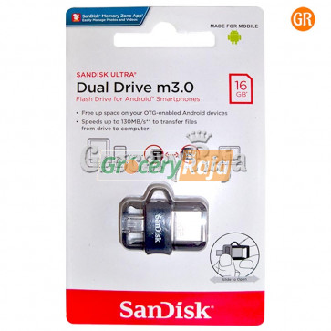 SanDisk Ultra Dual 16GB USB 3.0 OTG Pen Drive [40 CARDS]