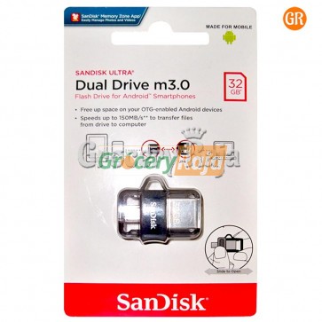 SanDisk Ultra Dual 32GB USB 3.0 OTG Pen Drive [85 CARDS]