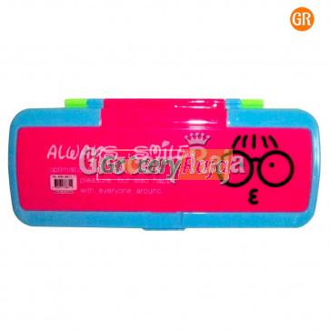 Smiley Plastic Pencil Box 1 pc [6 CARDS]