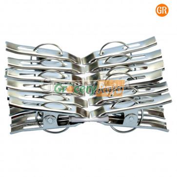 Steel Cloth Clip 12 Pcs [5 CARDS]