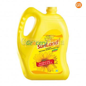 Sunland Refined Sunflower Oil 5 Ltr Can