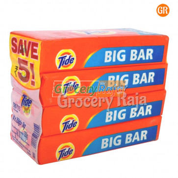 Tide Plus Detergent Soap 250 gms Pouch (Pack of 4)
