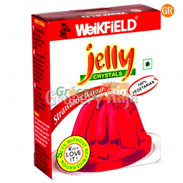 Weikfield Jelly Crystals - Strawberry Flavour 90 gms