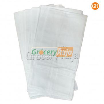 """White Men's Handkerchief 16""""X16"""" (Pack of 6)"""