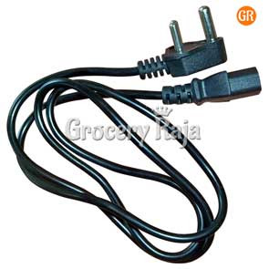 3 Pin Computer Power Cord Cable for Computer PC 1 Meter [8 CARDS]