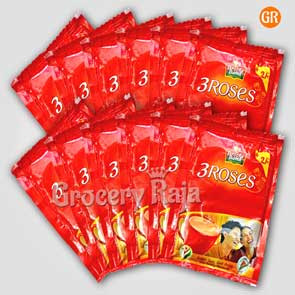 Brooke Bond Tea - 3 Roses Rs. 2 sachet (Pack of 12)