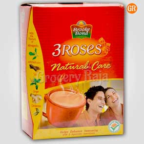 Brooke Bond Tea - 3 Roses Natural Care 100 gms Carton