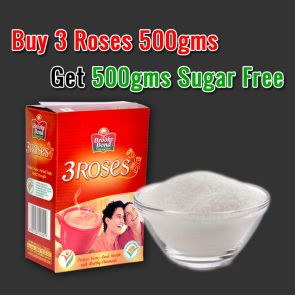 Buy 3 Roses Tea 500 gms & Get 500 gms Sugar FREE