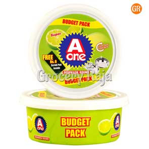 A One Super Dish Wash Round Value Pack 250 gms