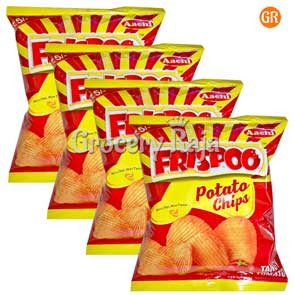 Aachi Frispoo Potato Chips - Tangy Tomato Rs. 5 (Pack of 4)