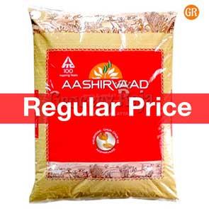 Aashirvaad Atta 5 Kg + Free Aashirvad Salt