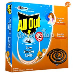 All Out Low Smoke Coil 10 nos Carton