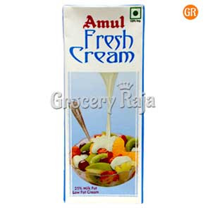 Amul Fresh Cream 200 ml Carton